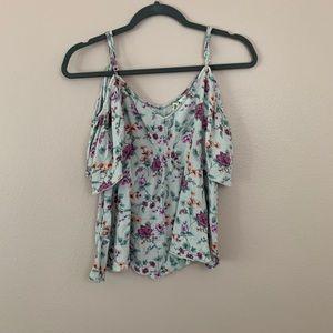 Mimi Chica cold shoulder blouse size XL